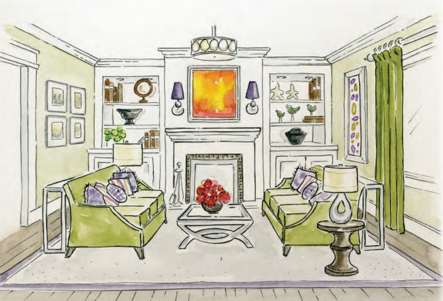 Illustration from:  Dancing with Design, A Step-by-Step Guide on How to Create a Unqiue Home