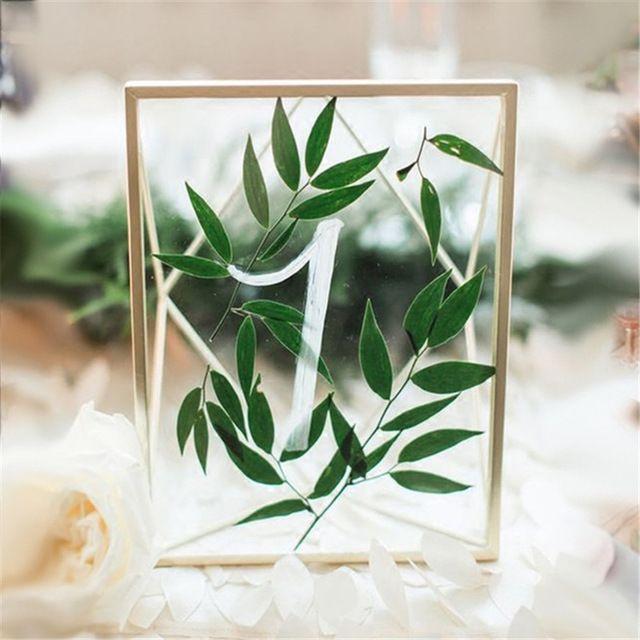 Marco trasero Europea retro marco de fotos de vidrio transparente colocado boda creativa boda fotos de decoración del hogar regalos