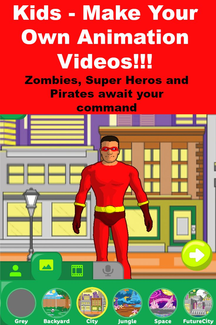 Use this great Crayola 3D animation to make your own cartoon videos. The Zombie is awesome!