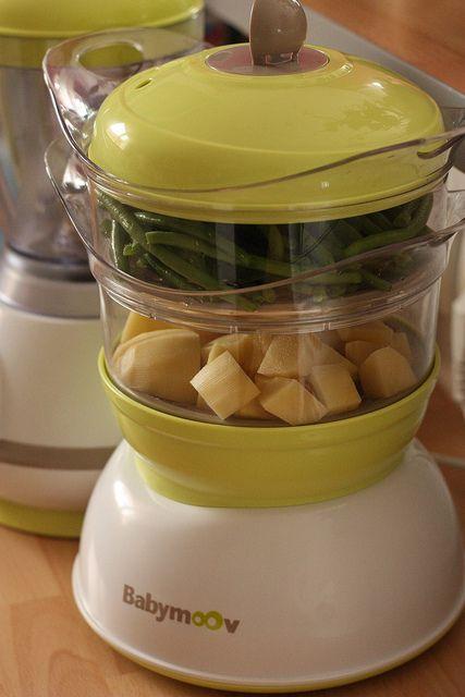 Purée haricots verts, pdt et lait de coco bébé 12 mois.