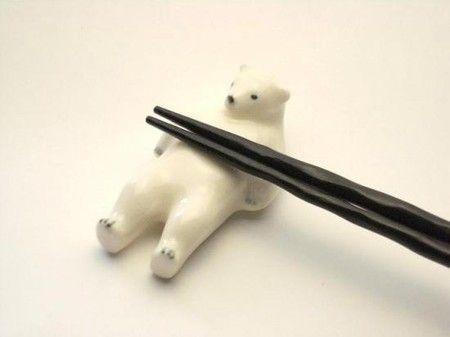 楽土熊五郎(シロクマ)箸置き