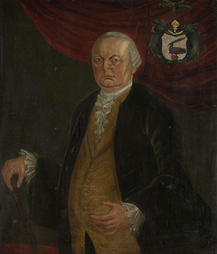Portrait of Reinier de Klerk, Governor-General of the Dutch East India Company, Franciscus Josephus Fricot, 1777