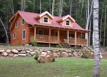 Coventry Log Homes | Our Log Home Designs | Tradesman Series | The Fairfield