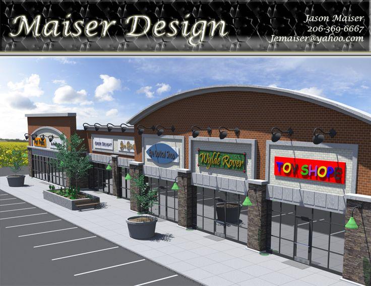 strip mall facade - Google Search