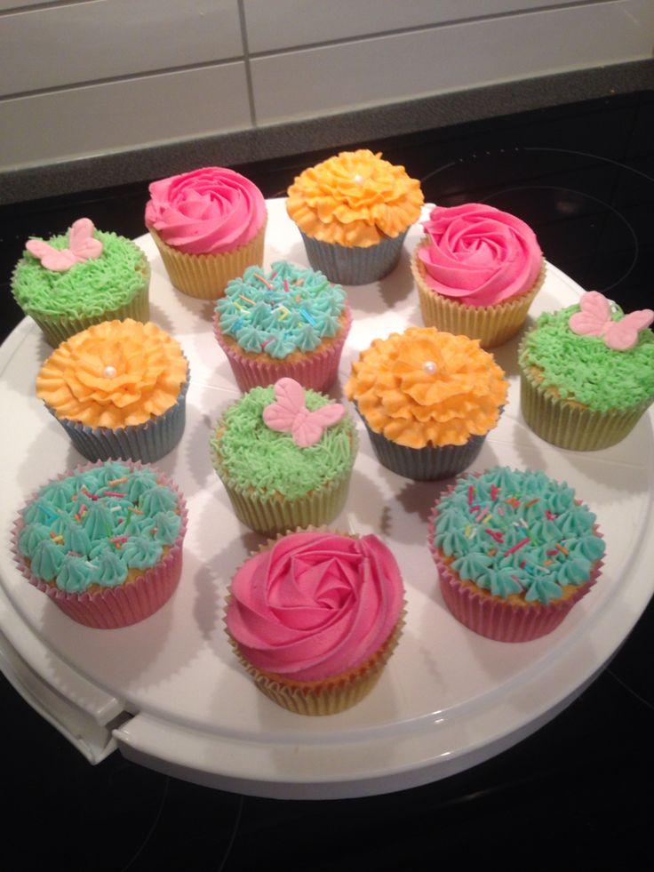 Vanilje cupcakes med lakrisfrosting - vanilla cupcakes
