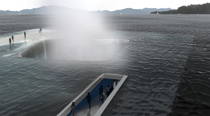 Intentionally unstable Water Pavilion lets visitors walk on the ocean