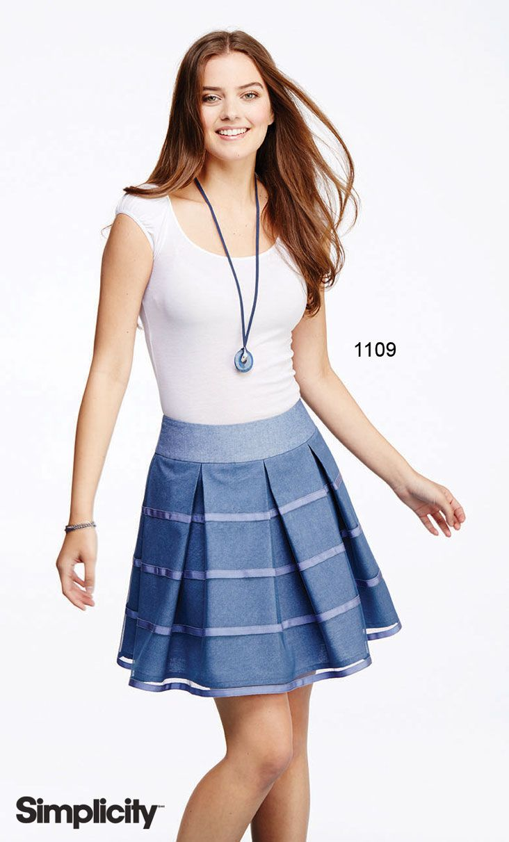 sew this pleated skirts pattern with inverted pleats