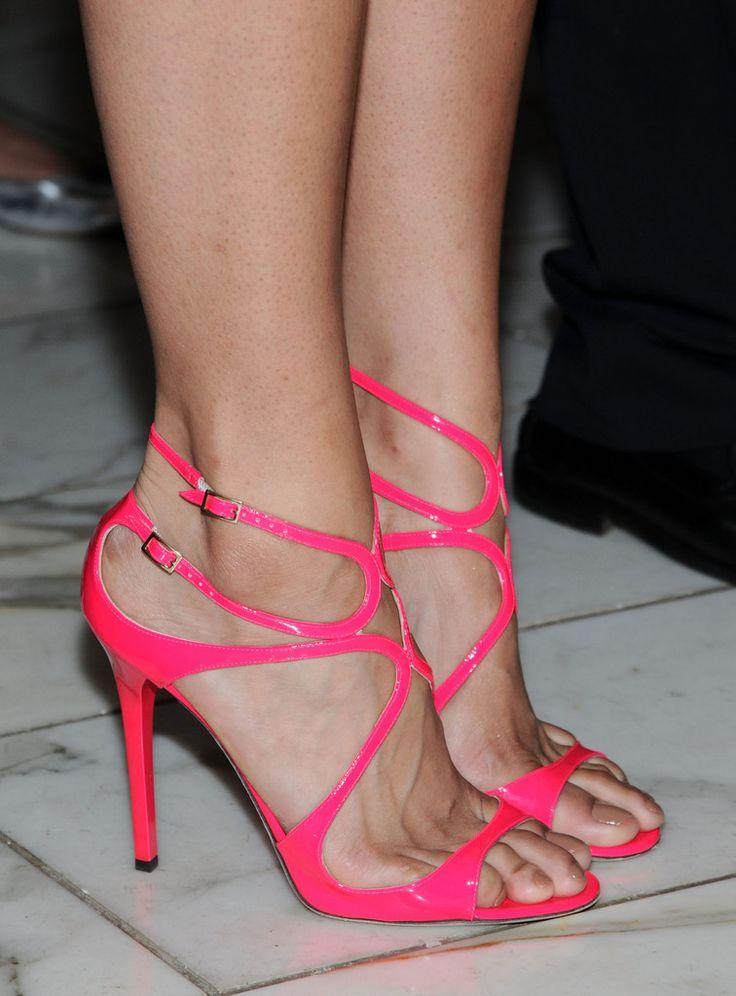 Jimmy Choos Hot Pink Lang Sandals #JimmyChoo #Shoes #Heels