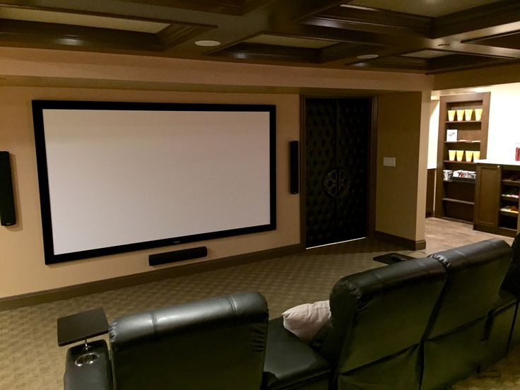 112 inch screen which was perfect for this space