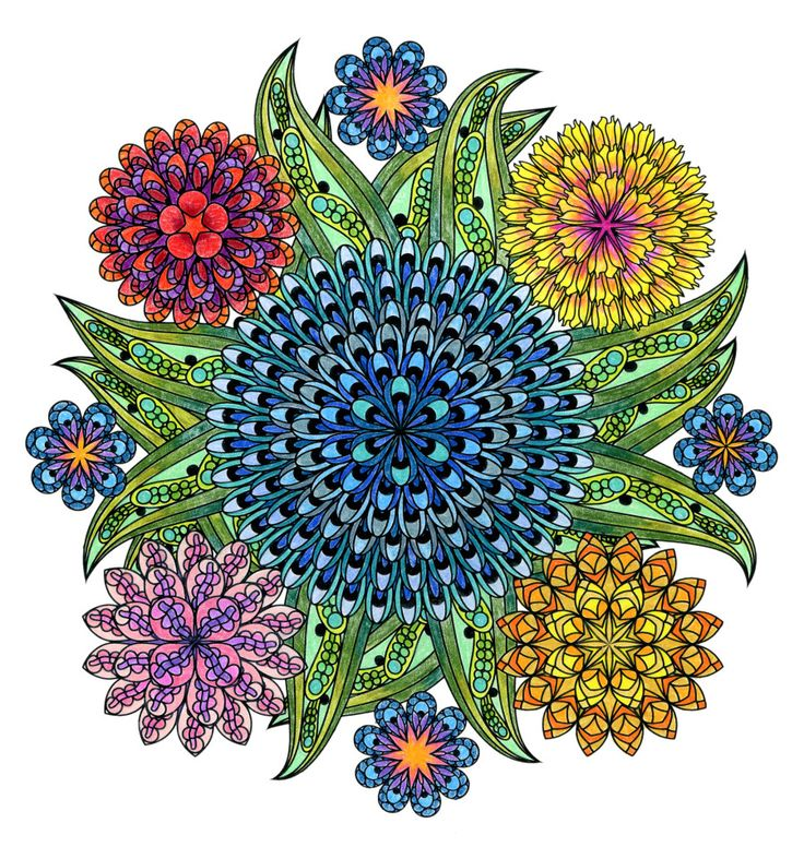 This Mandala Coloring Book For Grown Ups Is The Creatives Way To Mindful Relaxation Adult Books Mandalas