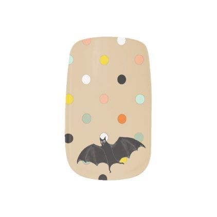 #Halloween bat minx nail wraps - #Halloween #happyhalloween #festival #party #holiday