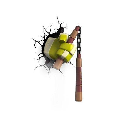 Teenage Mutant Ninja Turtles 3D Wall Nightlight - Michelangelo Weapon, Green