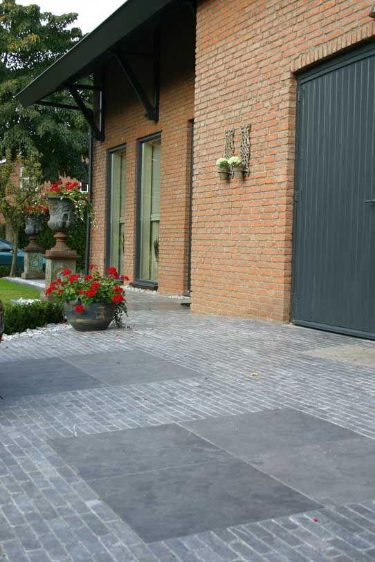 Belægning, belægningstegl, tegl, kliker, terrasse, Ziegel, bricks.    Chinese hardsteen natuursteen spotted-blue-waaltjes / waalformaat