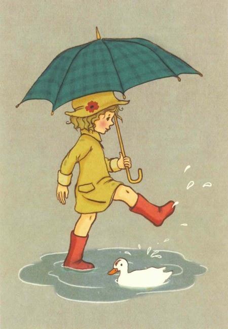 Belle & Boo 'Rainy Day' Card via  Lark (www.larkmade.com.au)