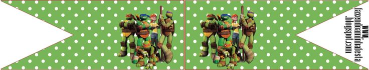 Bandeirinha Sanduiche Tartarugas Ninjas: