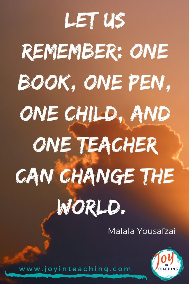 Let Us Remember One Book One Pen One Child And One Teacher Can