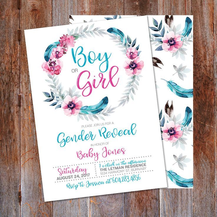 The 25+ best Gender reveal party invitations ideas on Pinterest ...