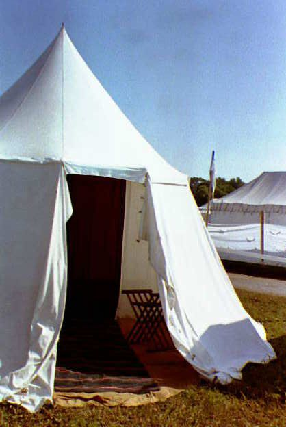 Diy single pole pavillion tent not sure how easy it for Build your own canvas tent