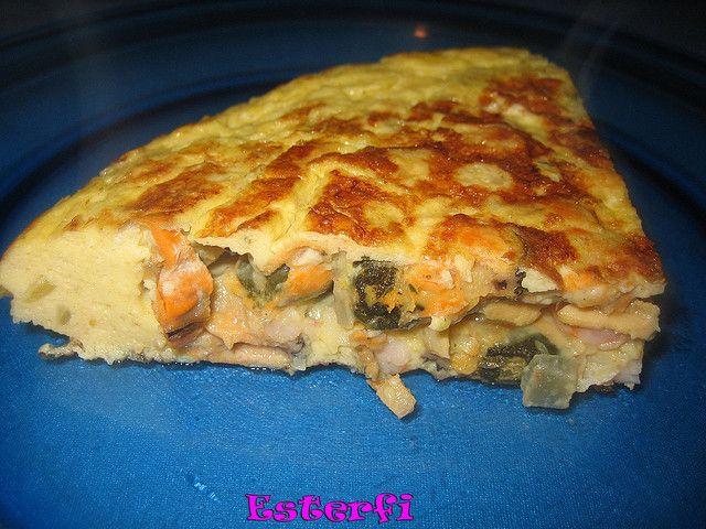 Tortilla de Gambas y Mejillones.