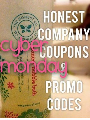 Cyber Monday Honest Company Coupon & Deals - http://mommysplurge.com/2014/12/cyber-monday-honest-company-coupon-deals-sale/