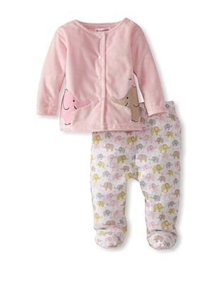 57% OFF Rumble Tumble Baby Plush Jacket Set (medium pink)