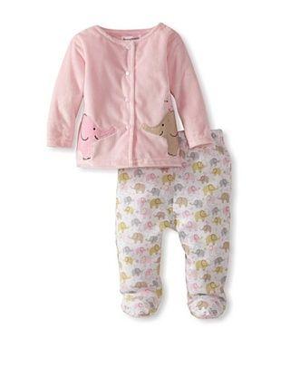 57% OFF Rumble Tumble Baby Plush Jacket Set (medium pink)