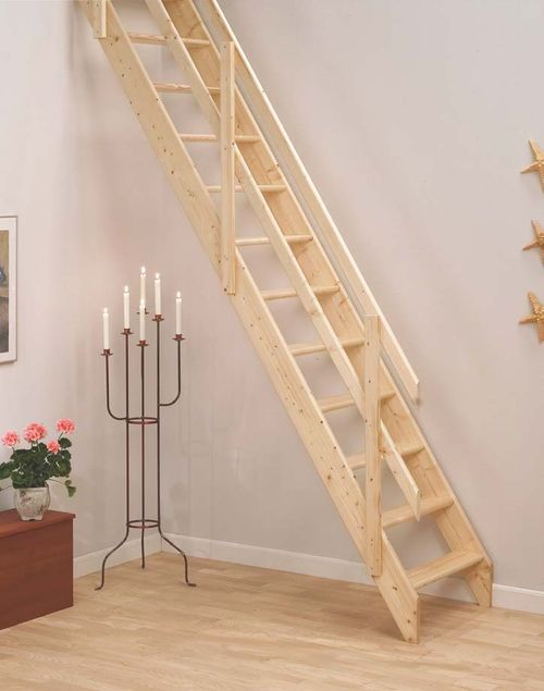 minimalist space saver staircase design for pine wooden material tread and top rail combine simple horizontal open stairsloft stairsunder stairsattic