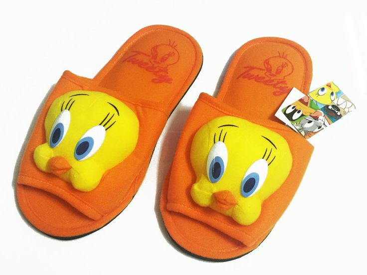 Tweety Orange Slippers Shoes Looney Tunes Women's Size US 6-10, UK 4-8, EU 36-42 | Clothing, Shoes & Accessories, Women's Shoes, Slippers | eBay!