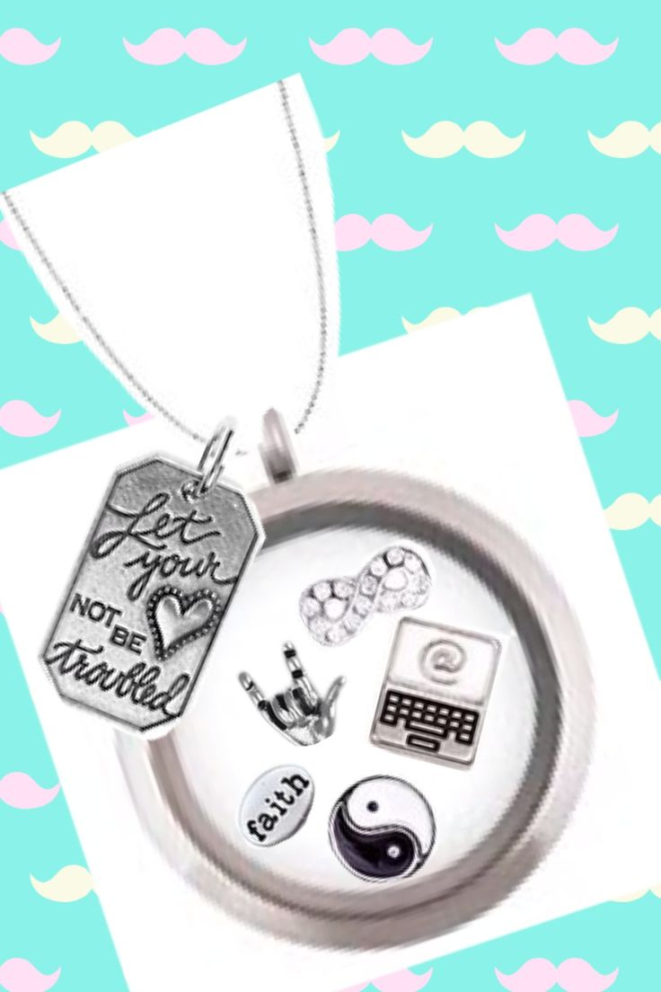 For a young instagram follower: laptop, I love you!!, yin-yang, infiniti, new The Band Perry tag, faith, all in a large silver.