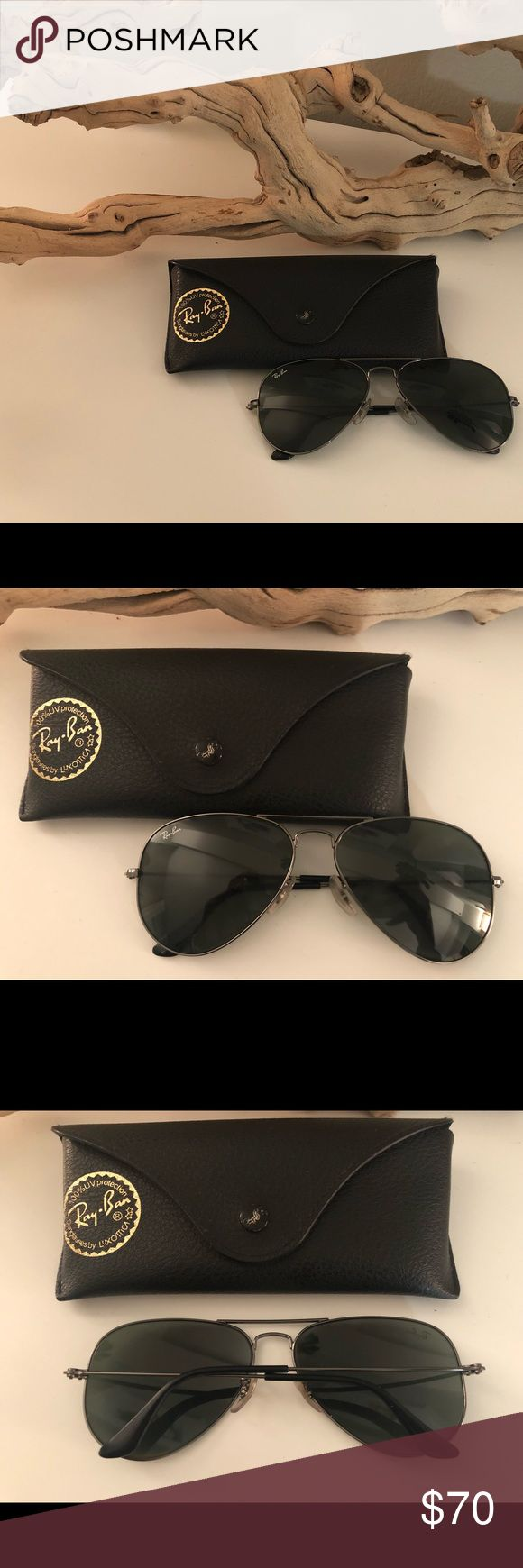 Ray Ban Classic Aviator Sunglasses Ray Ban Classic Aviator Sunglasses 🕶 model RB3025 (Large metal) Reasonable offers accepted Ray-Ban Accessories Sunglasses