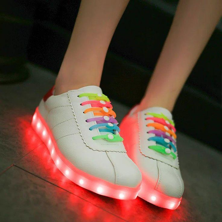 2016 Women Rainbow Lace Sport LED Light Luminous Sneaker Dance Fashion New Shoes  | eBay