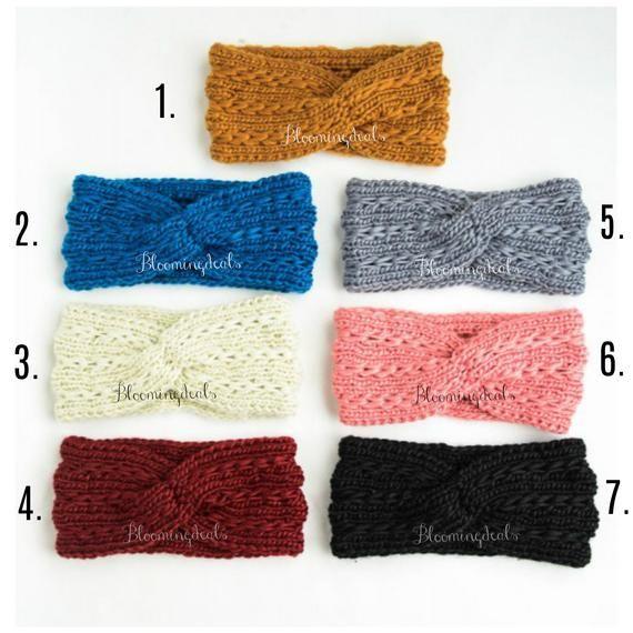 Crochet Headband, Knit Headband, Winter Fashion Head Wrap, Winter Headband, Twist Braid Turban   – Products