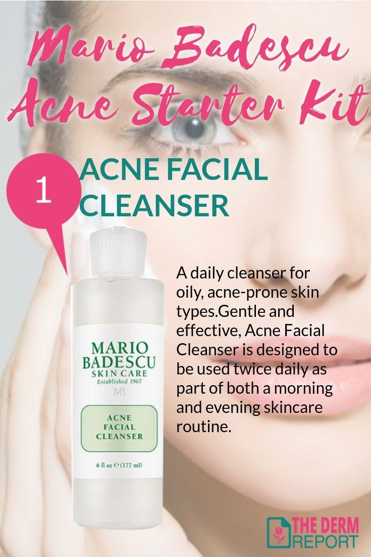 Mario Badescu Acne Starter Kit Acne Facial Cleanser A Daily