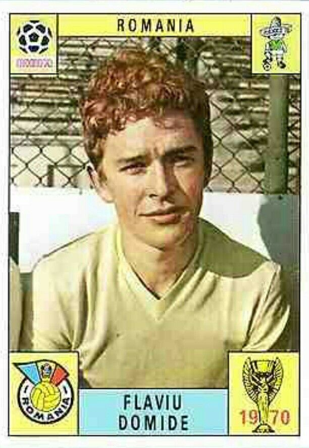 Flaviu Domide of Romania. 1970 World Cup Finals card.
