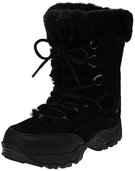 Hi-Tec St. Moritz 200 Wp Ii, Womens Biker Boots, Black (Black/Clover), 8 UK (41 EU)