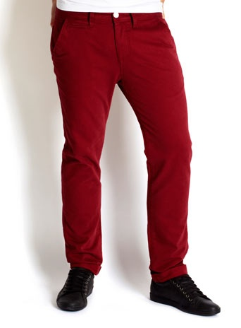 YES! SKINNY RED CHINOS!!!!