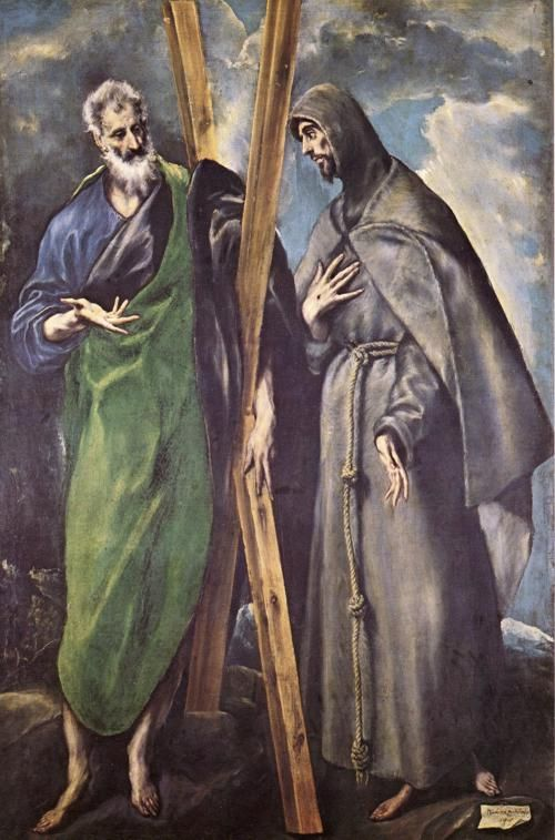 'saint andrew and saint francis by el greco' - St. Andrew's Feast day is November 30th - Died 877