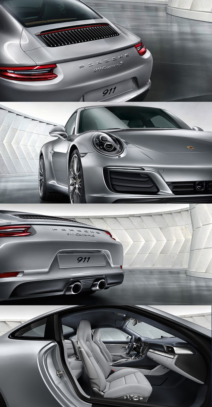 The new Porsche 911 Carrera S. Six-cylinder twin-turbo boxer engine producing 309 kW (420 hp) and 500 Nm.  *Fuel consumption in accordance with EU 6: 911 Carrera 2 models: Combined: 8.8-7.4 l/100 km (32.1-38.2 mpg); CO2 emissions: 202-169 g/km.