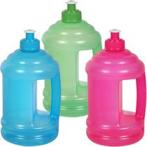 $1.00 Bulk Plastic Water Bottles with Pull-Top Spouts and Handles, 24 oz. at DollarTree.com