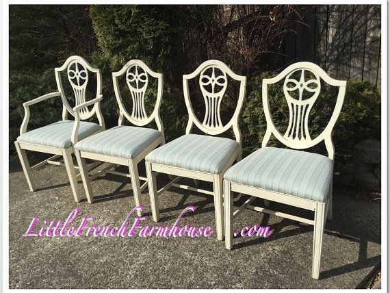 CUSTOMIZE ME! 4 Antique Mahogany SHERATON Dining Chairs - Hepplewhite - Empire - Shield Back - Excellent Condition - RARE