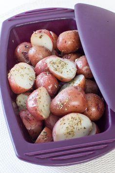 #Epicure Steamer 8-Minute Greek Potatoes #vegetarian #meatlessmonday