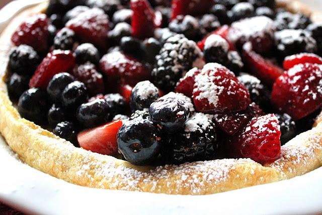 Berry Puff Pancake minus the marmalade, I wonder if black berry or ...