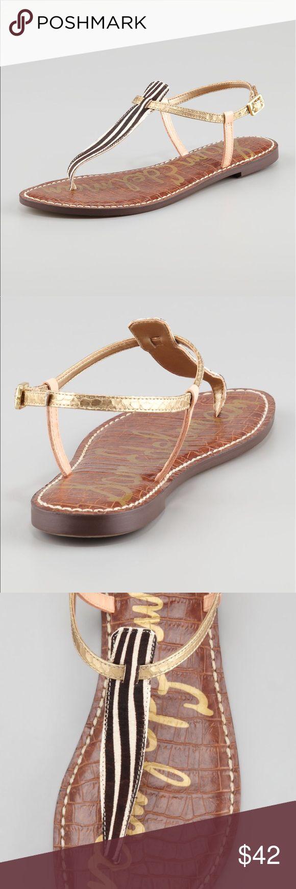 "Sam Edelman Gigi Sandals Size 6.5 Brand New Authentic Sam Edelman Gigi Dyed Calf Fur  Size: 6.5 M  1/2 "" heel Sam Edelman Shoes Sandals"