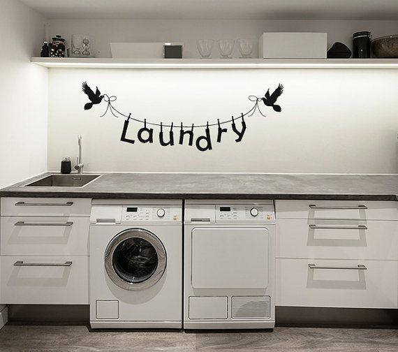 laundry room decal laundry decal wall decal
