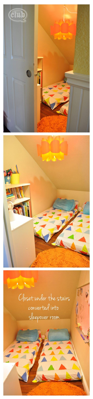 Closet turned into Sleepover room @clubchicacircle