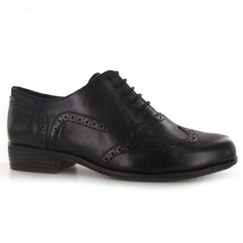 Clarks Hamble Oak Black Leather Womens Shoes Size 6 US