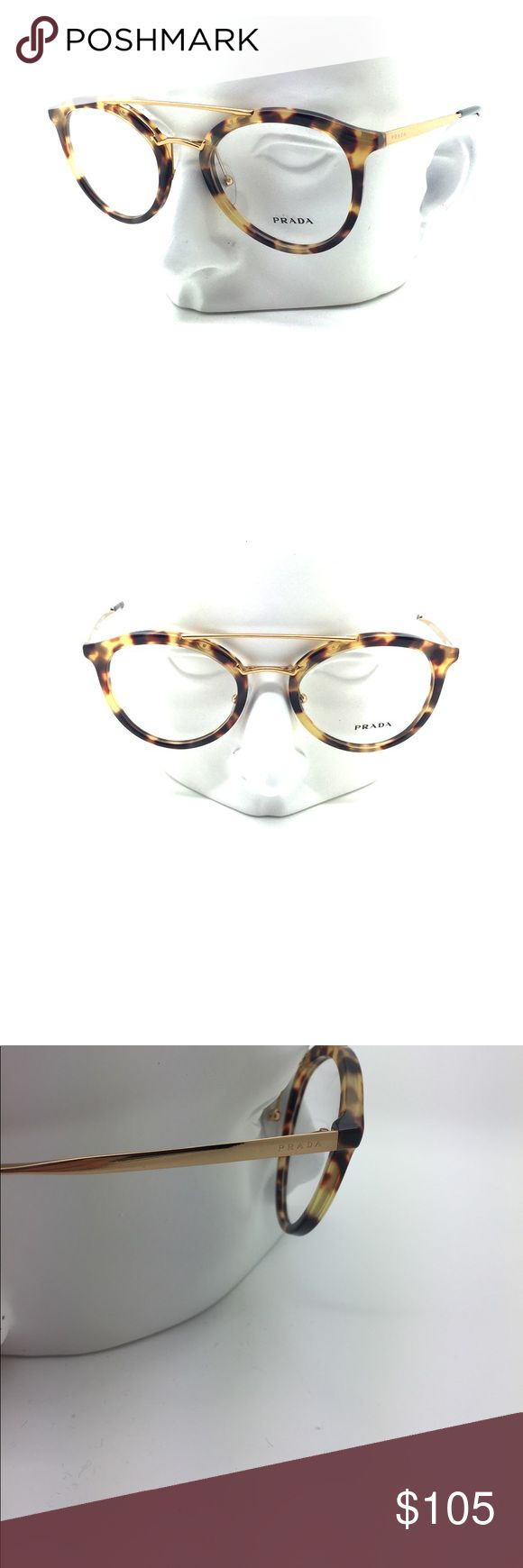 New Prada VPR 15T 7S0-1O1 52mm Eyeglasses New pair of Prada VPR 15T 7S0-1O1 Eyeglasses. Frame size is 52-21-140. Frame is a Tokyo tortoise color with original Prada demo lenses installed. Made in Italy. Eyeglasses will come with Prada Eyeglasses case and cleaning cloth. Guaranteed authentic! Prada Accessories Glasses