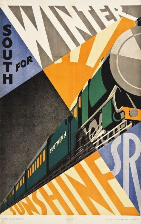 Edmond Vaughan, poster artwork for Southern Railway, 1929. Via Wolfsonian
