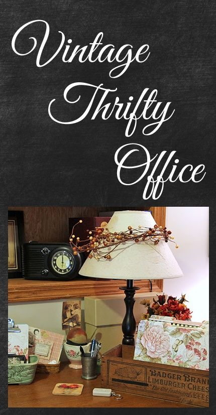 home officevintage office decor rustic. a vintage thrifty office rustic decorvintage home officevintage decor