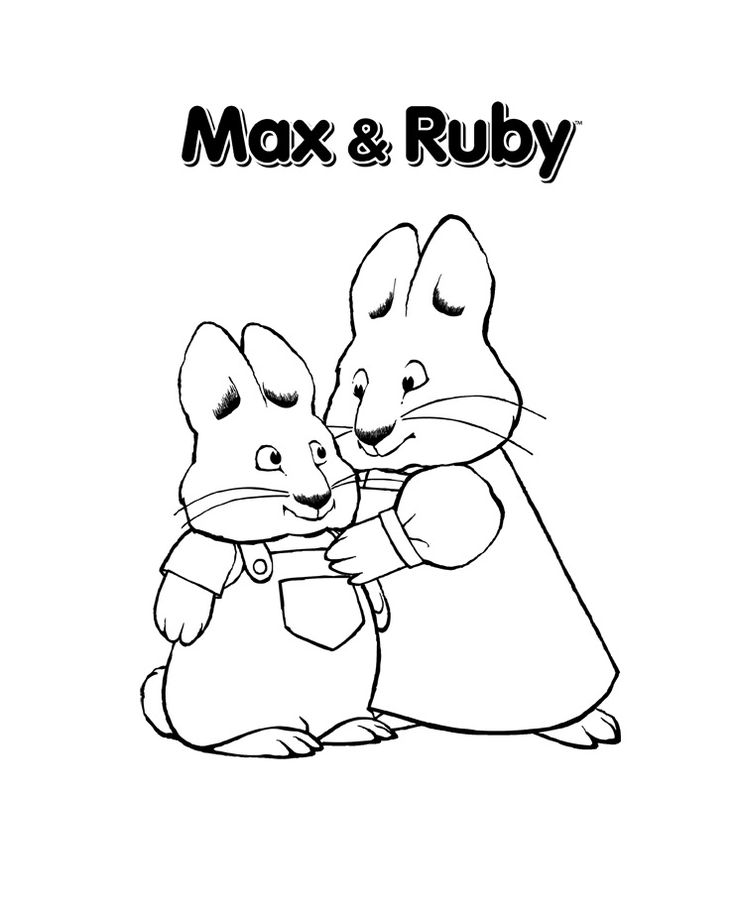 Free Printable Max and Ruby Coloring